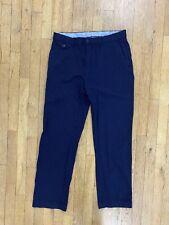 Polo Ralph Lauren Golf Men's Navy Wool Flat Front Dress Golf Pants Sz 33x32 Euc