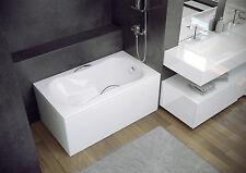 Alta calidad bañera de acrílico con asiento 120 X 70 espacio Saver, barcos, altillos