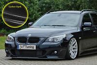 Frontspoiler aus ABS passend für BMW 5er E60 E61 M-Paket mit ABE Carbon Optik