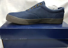 Ralph Lauren Mens Shoes Vito Navy Size 9.5 Agsbeagle