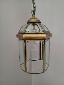 Pendant Hall / Porch / Lounge / Dining Room Lantern - 6 Panel Bevelled Glass