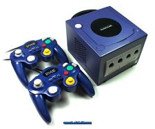# Nintendo GameCube GC consola azul/morado + 2 pads + electricidad - & TV-cable-Top #