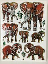 11 Assorted Big Elephant Sticker Kids Project Scrapbook Card Envelope Sealing