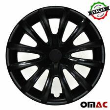"""15"""" Inch Hubcaps Wheel Rim Cover Matt For Nissan Black Insert 4pcs Set"""