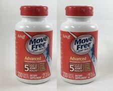 Schiff Move Free Advanced Glucosamine + Chondroitin 200 Tablets x 2