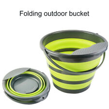 Large Foldable Bucket 10L Capacity Collapsible Silicon Camping Water Carrier