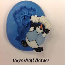 Stampo in silicone Natale Pupazzo di Neve Snowflake Sugarcraft Torta Decorazione FIMO
