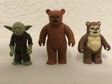 Kenner Star Wars Ewoks PAPLOO WICKET WARRICK YODA Action Figures 1980s