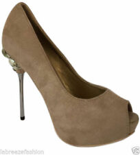 Unbranded Suede Stiletto Peep Toes Heels for Women