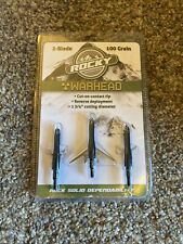 "New Rocky Mountain Warhead 2-Blade 100 Grain Broadheads 3-Pack 1-3/4"" Cut"