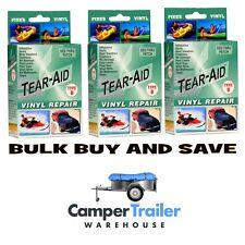 Tear Aid Type B - BULK PACK x 3 - Repair Vinyl, PVC, Seat, Cover, Sofa, Pool