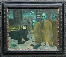 JACK SASSOON 1938 DEATH OF THE YOUNG MEN BRITISH SURREALIST OIL PAINTING ART WAR