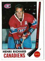 1969 Topps Henri Richard #11! YORK CARDS!