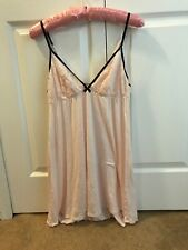 victoria secret Large Sexy Loght Pink Sleeping Gown Dress Teddie