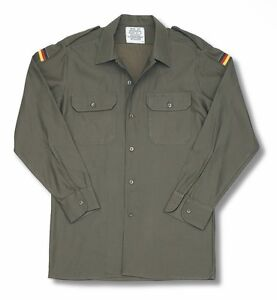 German Army Shirt Original Military Surplus Combat Field Cargo Work Olive Green