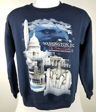 Smithsonian Institution Sz S Blue Graphic Sweatshirt Washington DC Capital