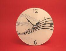 Music Design Glass Wall Clock Quartz Music Teacher Student Musician Xmas Gift