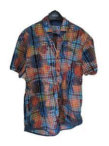 Desigual mens short sleeve shirt xl orange Pattern