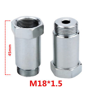 2pcs 45mm Straight Oxygen O2 Sensor Adapter Auto Exhaust Spacer M18x1.5 Pitch