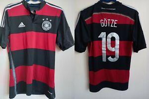 GERMANY 2014/2015 AWAY FOOTBALL SHIRT JERSEY GOTZE#19 ADIDAS