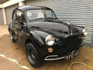Morris Minor 1955 (YFC446) Black, solid split screen, been in storage since 1985