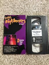 freddy's nightmares VHS OOP RARE A Nightmare On Elm Street Dreams That Kill