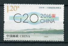 China 2016 MNH G20 Summit Hangzhou 1v Set Politics Silk Stamps