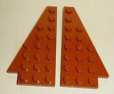 Nr.7418 Lego 3933 3934 Wedge 8x4 dunkelorange 1 Paar -  dark orange