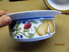 "DANSK  ""FIANCE FRUITS"" (THAILAND) FIVE  6  7/8""   FRUIT/CEREAL BOWLS"
