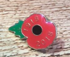 Remembrance  POPPY  1918- 2018 PIN BADGE with extra limited edition Poppy