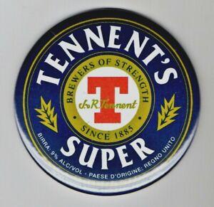 "Tennent's Super Jumbo Fridge Magnet Beer Mat Bar   3"" 75mm  Blade  Sub Badge"