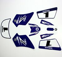 3M BLUE Decals Graphics Sticker Kit YAMAHA PEEWEE 50 PW50 PY50 Fairing Bike