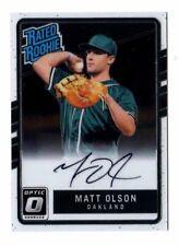MATT OLSON MLB 2017 DONRUSS OPTIC AUTOGRAPH (OAKLAND ATHLETICS)