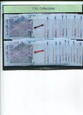 MALAYSIA MALAYA  RM 1 ZA & ZC (1 PAIR)  SGN ZETI ZA 30558XX & ZC 06868XX