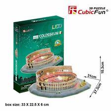 New LED Light Colosseum Rome 3D Model Paper Jigsaw Puzzle 185 Pieces L194H