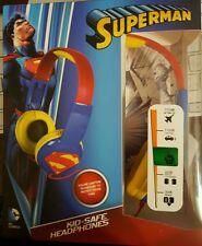 New Superman Kids-Safe Headphones - DC Comics/SAKAR - HP2-03390