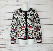 2002 Susan Bristol Petite Heavily Embroidered Cardigan Sweater size PS