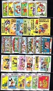MINT 175+ Different Walt Disney Cartoons MNH -- 30 International SETS Collection