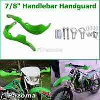 """Brush 7/8"""" Handguard Raptor Hand Guards For Kawasaki KFX450R KFX400 KLX250 Green"""