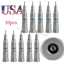 10x US Dental Slow Low Speed Handpiece Straight Nose Cone 25000rpm/min warranty%