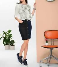 Modischer Jeans Rock In Stiftform+Attraktivem Bicolor-Design Best Connections