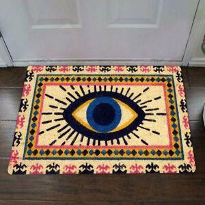 Spirit Evil Eye Front Door Mat Vintage Welcome Mat Porch  Indoor Home Decor
