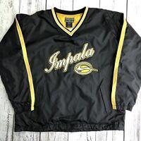 Vintage Steve & Barrys Impala Black Nylon Pullover Jacket Men SZ L. 1469