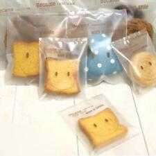 100Pcs Self Adhesive Cookie Food Storage Sweet Candies Gift Smile Face Bag - SS