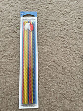 Rainbow Party Birthday Long Thin Party 8 inch Candles New