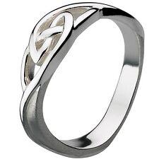 Ladies Argento Sterling Celtico Eterno Contorto Nodo Band Ring Taglia o gioielli