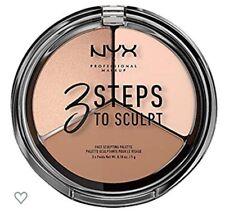 NYX Cosmetics 3 Steps To Sculpt Face Sculpting Palette Fair Brand New