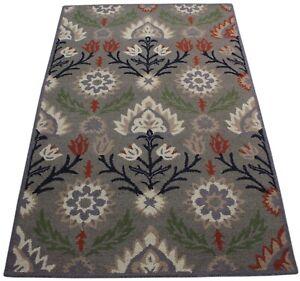 Grey Carpet 100% Wool Beige Oriental Rug 150x240 CM Hand Woven MH935