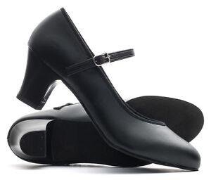 """Ladies Black Suede Sole Ballroom Jive Cerco Showtime Line Dance Shoes Katz 2"""""""