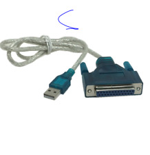 USB 2.0 To 25 Pin DB25 Parallel Port Cable IEEE 1284 1 Mbps Parallel Printer ada